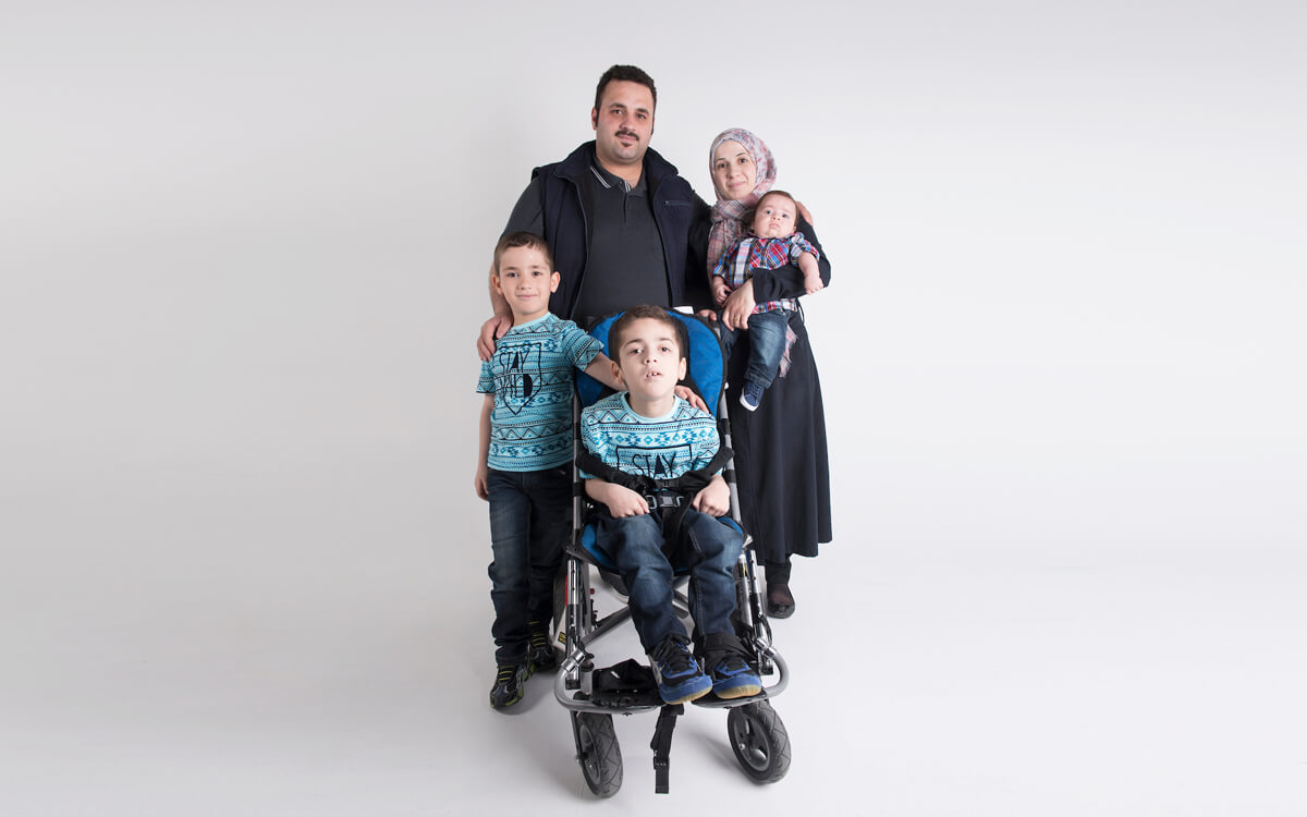 Photo of Syrian refugee family that utilized CHEO services